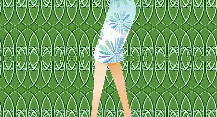 今年のファッションは、ずばり懐かしのタイトスカートとストッキング!!