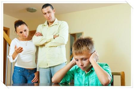 叱らなければいけない事を両親で決めておく