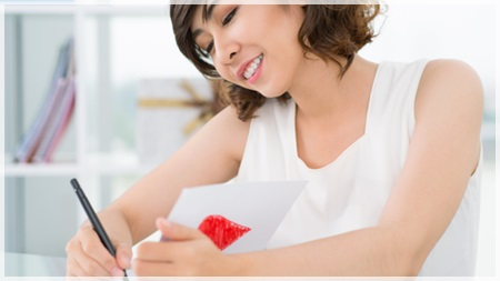 手紙を書く前に自分の字をチェック